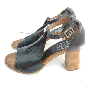 Miz Mooz black stacked heels